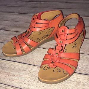 BareTraps Jeeny Coral Gladiator Sandals 9